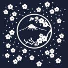 Mt. Fuji and Plum Blossoms - Winter by mingtees