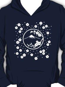 Mt. Fuji and Plum Blossoms - Winter T-Shirt