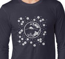 Mt. Fuji and Plum Blossoms - Winter Long Sleeve T-Shirt