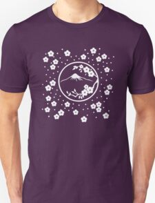 Mt. Fuji and Plum Blossoms - Winter Unisex T-Shirt
