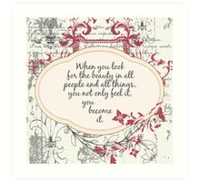 Inspirational Beauty Quote Art Print