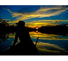 Sunset in the Amazon Photographic Print