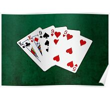 Poker Hands - Two Pair - King, Nine Poster