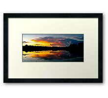 Sunset in the Amazon Framed Print