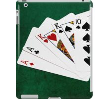 Poker Hands - Two Pair - Ace, King iPad Case/Skin