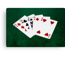 Poker Hands - One Pair - Tens Canvas Print