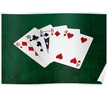 Poker Hands - One Pair - Tens Poster