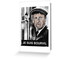 Bourvil Greeting Card
