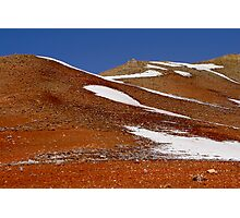Frost in red mountains Photographic Print