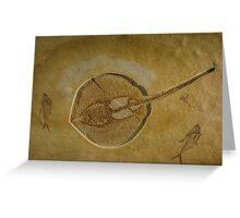 Flat Fish Fossil Greeting Card
