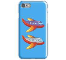 Colorful cartoon airplane iPhone Case/Skin