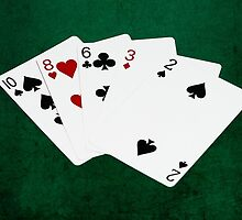 Poker Hands - High Card - Ten by luckypixel