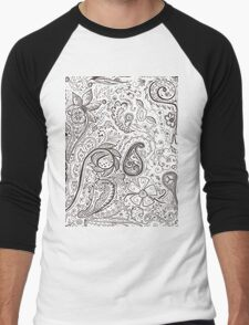 Endless Doodle Design #1 Men's Baseball ¾ T-Shirt