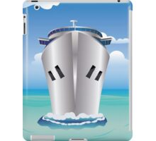 Cruise Liner in the Sea iPad Case/Skin