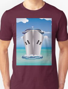 Cruise Liner in the Sea Unisex T-Shirt