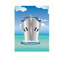Cruise Liner in the Sea Art Print