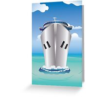 Cruise Liner in the Sea Greeting Card