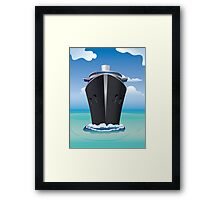 Cruise Liner in the Sea 2 Framed Print