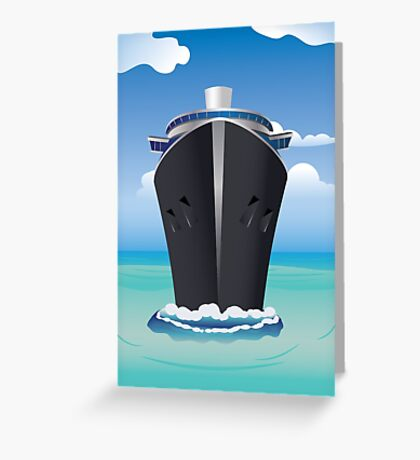 Cruise Liner in the Sea 2 Greeting Card