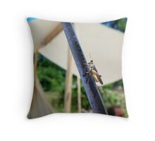 The Grasshooper and the Blade Throw Pillow