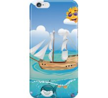Wooden Ship in the Sea 2 iPhone Case/Skin