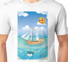 Wooden Ship in the Sea 2 Unisex T-Shirt
