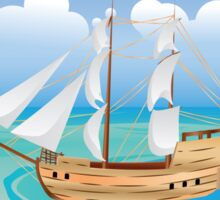Wooden Ship in the Sea 2 Sticker
