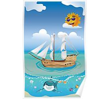 Wooden Ship in the Sea 2 Poster