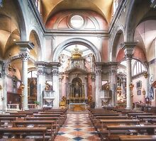 The church of San Canciano, Venice by Traven Milovich