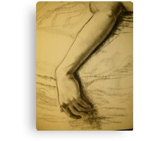Charcoal arm drawing Canvas Print