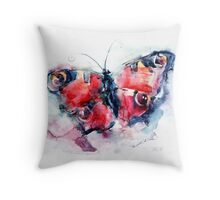Butterfly painted in watercolors Throw Pillow