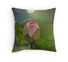 tulip white ball Throw Pillow