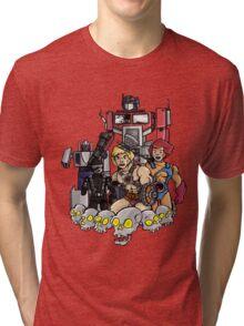 Evil Eighties Action Figures Tri-blend T-Shirt