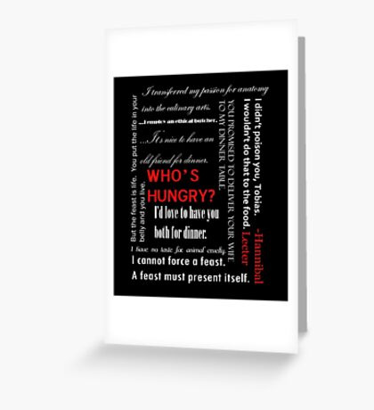 Cannibal Quotes, Season 1 Greeting Card