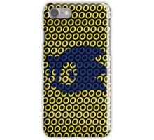 Sonic and Rings Design (Black Background) iPhone Case/Skin