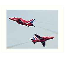 Red Arrows Crossover Art Print