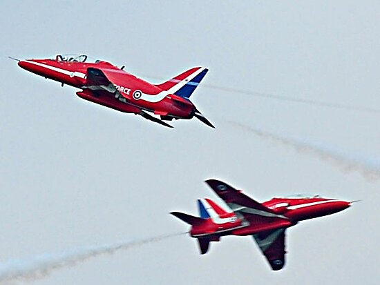 Red Arrows Crossover by Mark  Jones