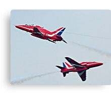 Red Arrows Crossover Canvas Print