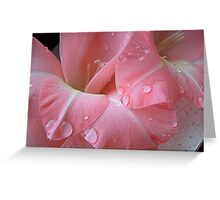 Decorated with droplets Greeting Card