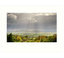 View over Buckland, Gloucestershire Art Print