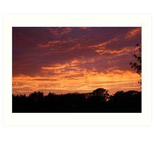 Evening Sky over Fleetwood Art Print