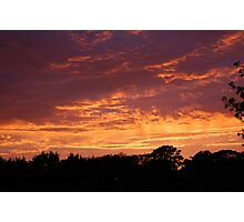Evening Sky over Fleetwood Photographic Print