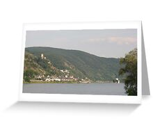 The Rhein And Burg Gutenfels Greeting Card