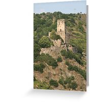 Burg Gutenfels Greeting Card