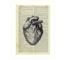 Heart on Book Art Print