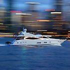 Motor Boat in motion by Zaven Jordan