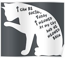 I Can Be Social Poster