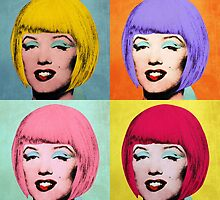 Bob Marilyn Monroe set of 4 by filippobassano