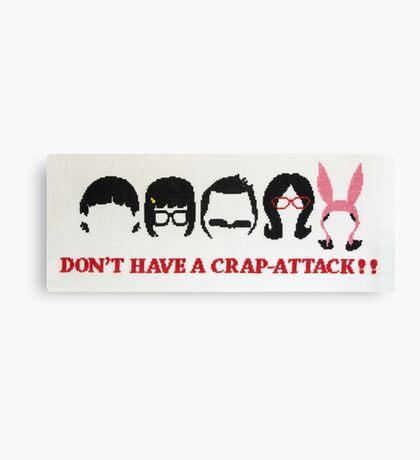 Belcher Family Crap Attack Canvas Print
