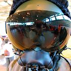 Modern Fighter Pilots Helmet by Mark  Jones